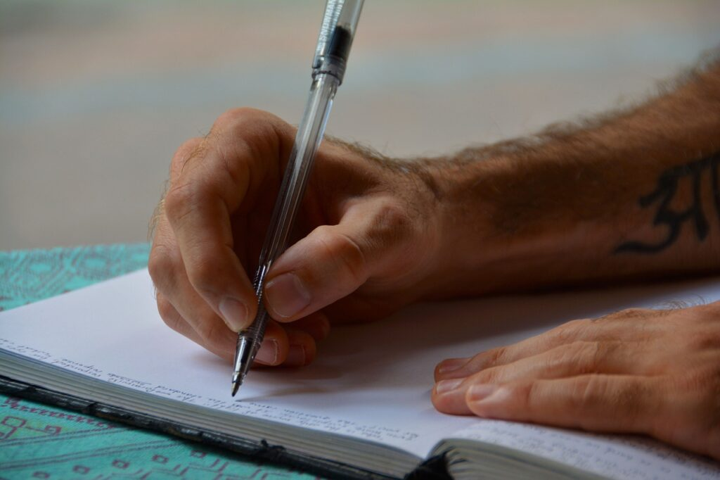 hands, writing, diary